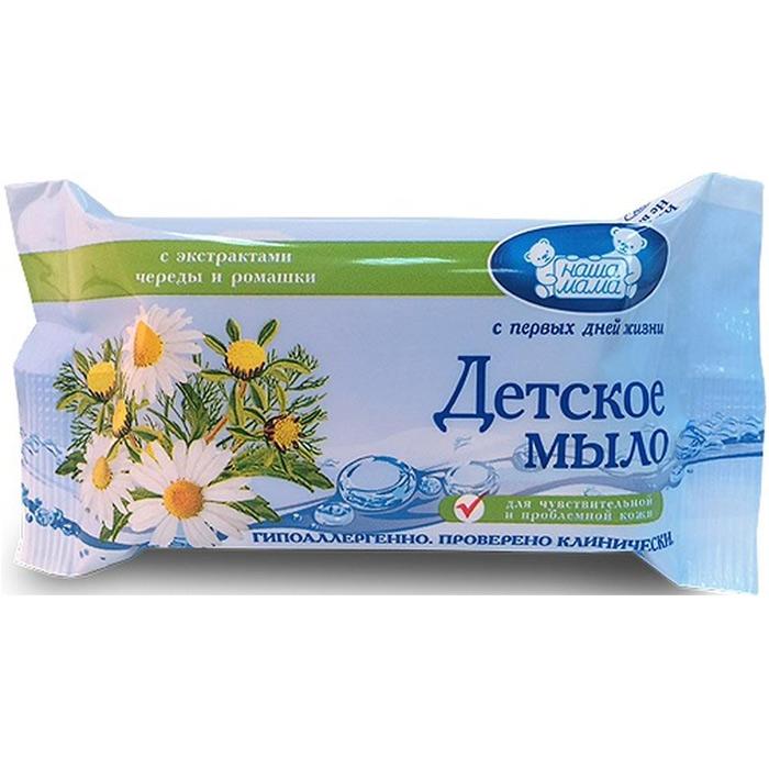 Купить Наша мама мыло детское с экстрактами череды и ромашки 90г