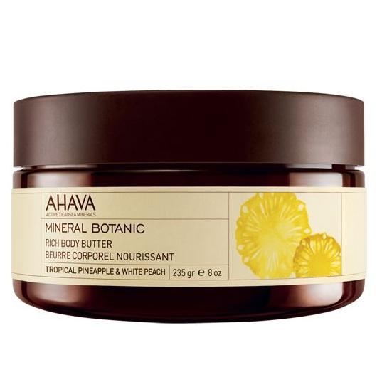 заказать AHAVA косметика Ахава (Ahava) Mineral Botanic Насыщенное масло для тела тропический ананас и белый персик 235г
