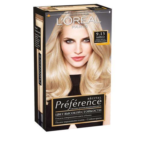 Купить Loreal Preference краска для волос 9.13 Байкал очень светло-русый пепельно-золотистый, Loreal Paris