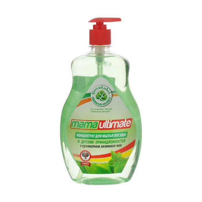 Купить Mama Ultimate Зеленый чай Концентрат для мытья посуды 1000мл флакон