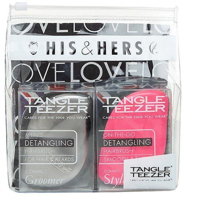 Tangle Teezer Подарочный набор His & Hers стальной/розовый от Лаборатория Здоровья и Красоты