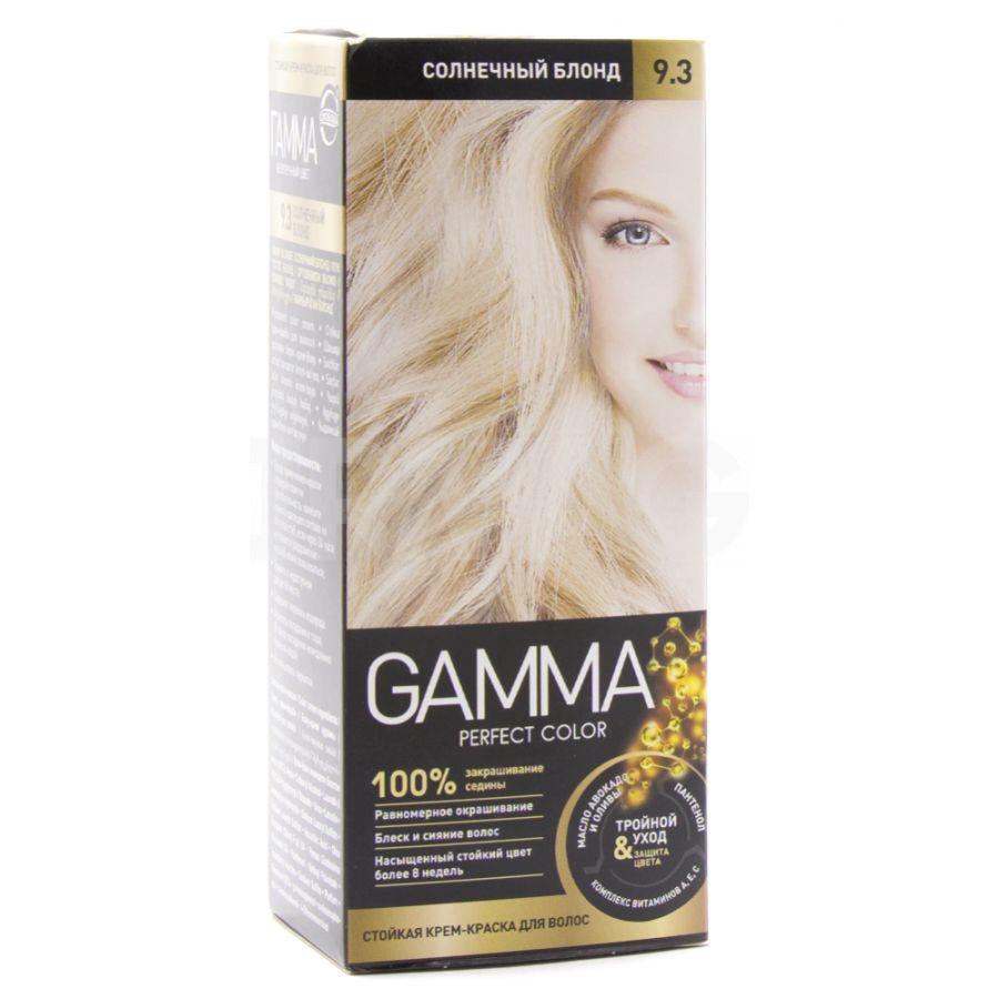 Купить Gamma Perfect Color Стойкая крем-краска для волос 9.3 солнечный блонд 50г