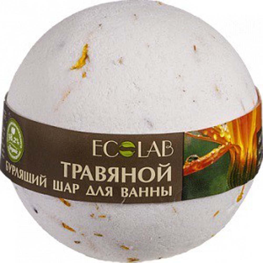 Эколаб Бурлящий шар для ванны Примула и зеленый чай