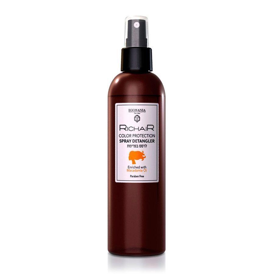 Купить Egomania Спрей-кондиционер для облегчения расчесывания защита цвета с маслом макадамии RICHAIR 250мл