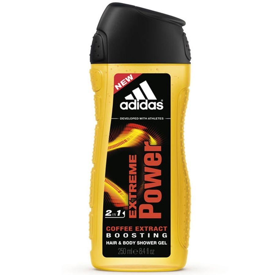Adidas Body-Hair-Face Extreme Power гель для душа, шампунь и гель для умывания для мужчин 250 мл от Лаборатория Здоровья и Красоты