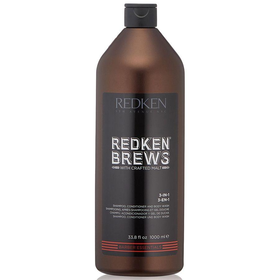 Купить Redken Brews Шампунь 3 в 1 1000мл