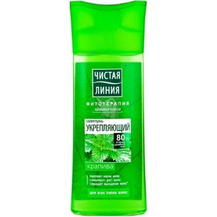 Купить Чистая Линия Шампунь для всех типов волос укрепляющий на отваре целебных трав Крапива 250мл
