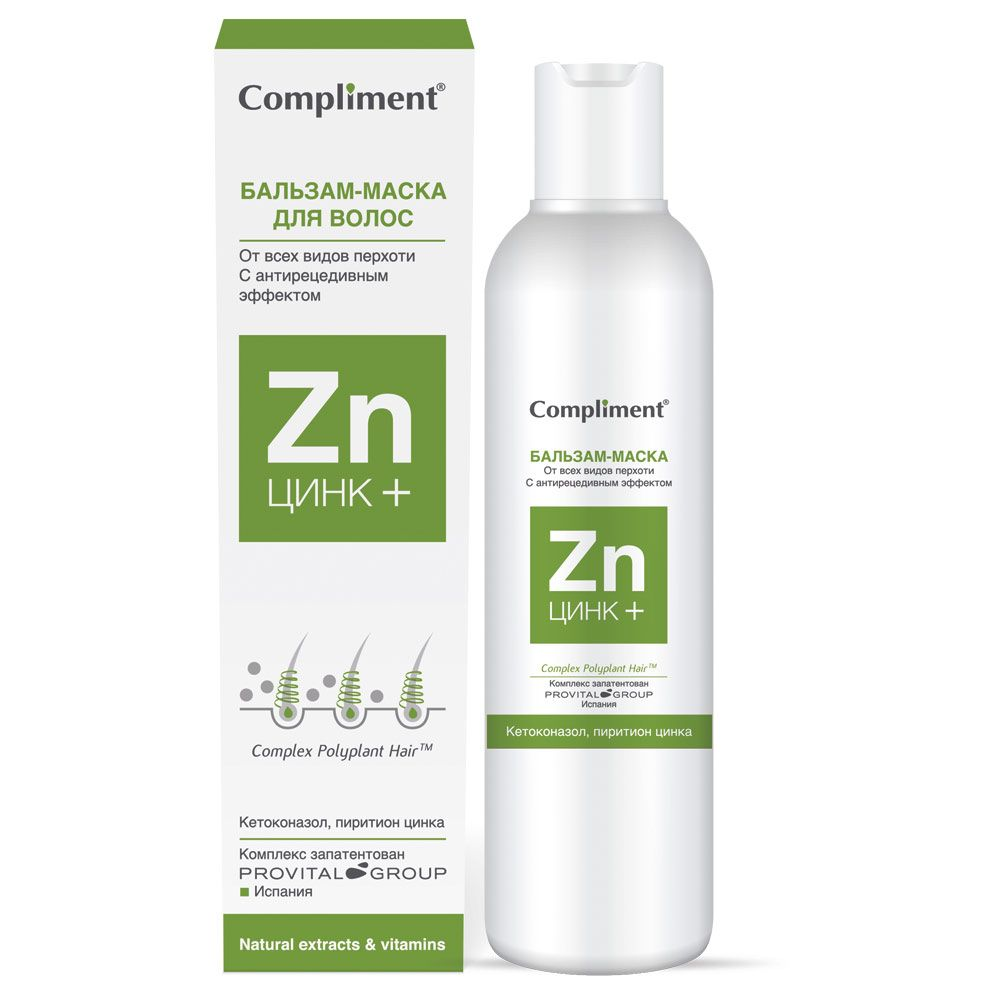 Купить Compliment Цинк+ Бальзам-маска для волос от всех видов перхоти 200мл