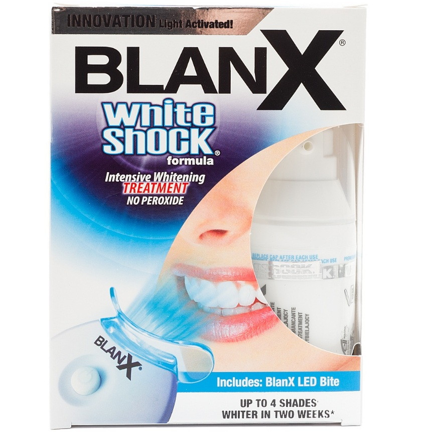 Бланкс (blanx) white shock treatment + led bit