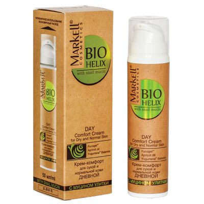 Маркелл Bio-Helix Крем-комфорт дневной с муцином Улитки для сухой и нормальной кожи 50мл от Лаборатория Здоровья и Красоты