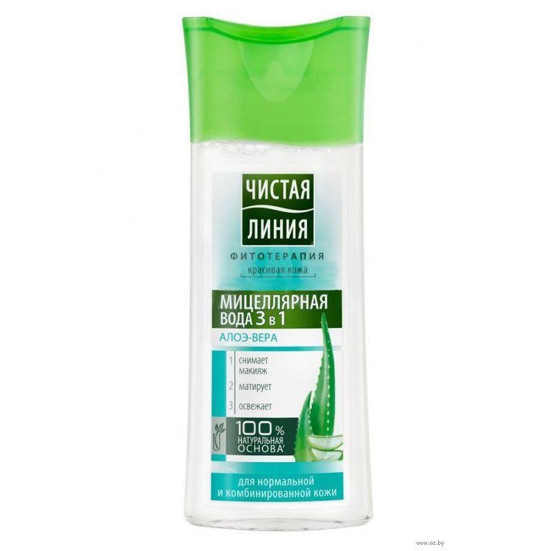 Чистая Линия Мицеллярная вода 3в1 для нормальной и комбинированной кожи 100мл ЧИСТАЯ ЛИНИЯ