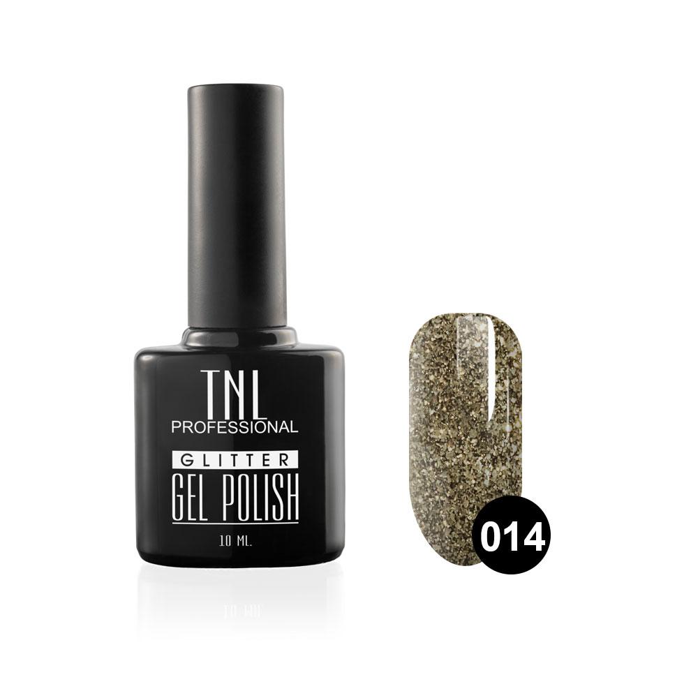 Tnl гель-лак glitter №14 - серый 10 мл