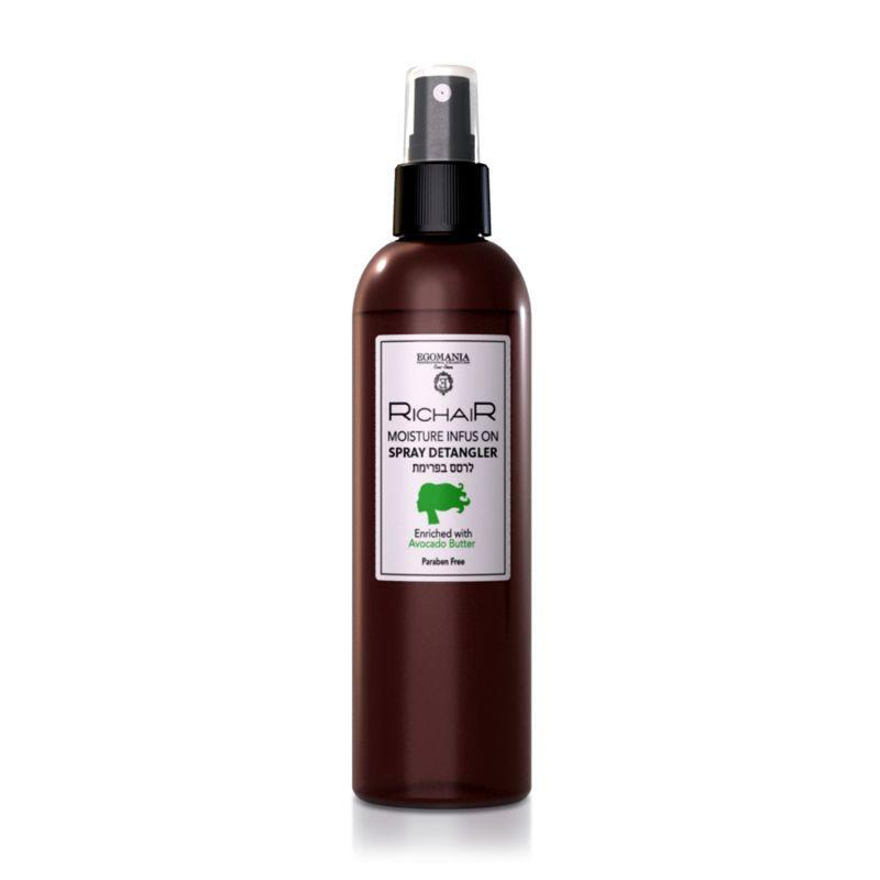 Купить Egomania Спрей-кондиционер для облегчения расчесывания активное восстановление с витамином Е с маслом авокадо RICHAIR 250мл