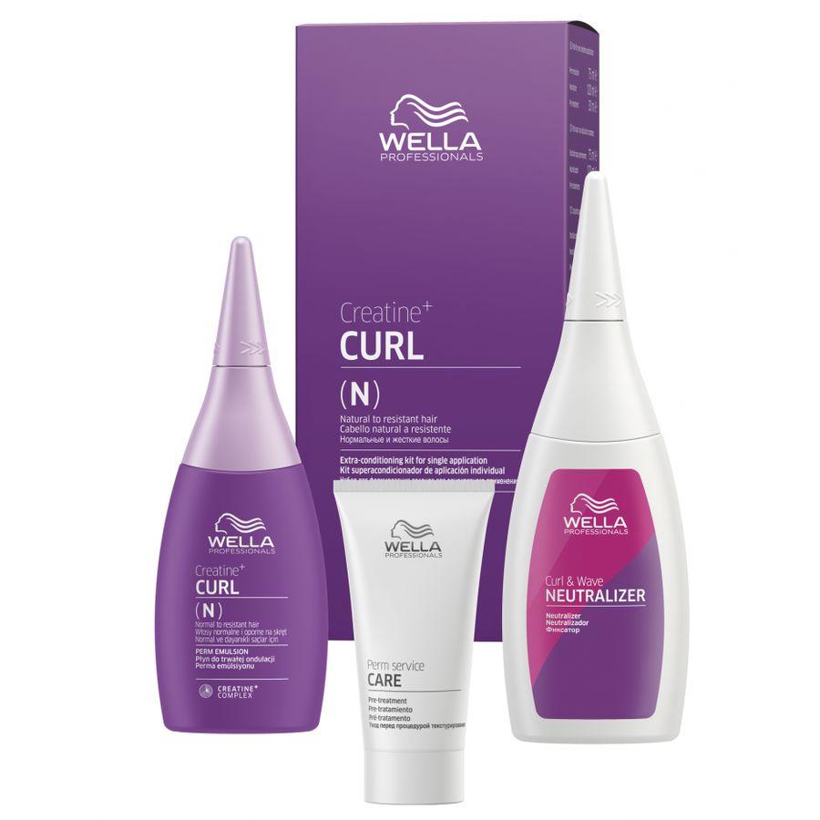 Wella CREATINE+ CURL(N) Набор для нормальных волос 30/75/100