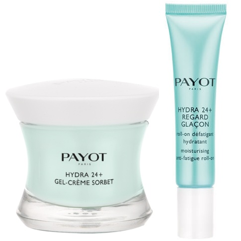 Payot Hydra 24+ набор для женщин Увлажняющий (увлажняющий крем-гель 50мл+гель с роликовым аппликатором+суперувл.маска 15мл+косметичка)