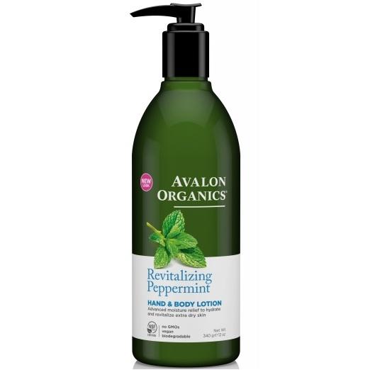 Avalon Organics Лосьон для рук и тела с маслом мяты Peppermint LTN 340г