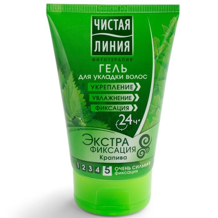 Купить Чистая Линия Гель для укладки волос Экстрафиксация 120мл, Чистая линия