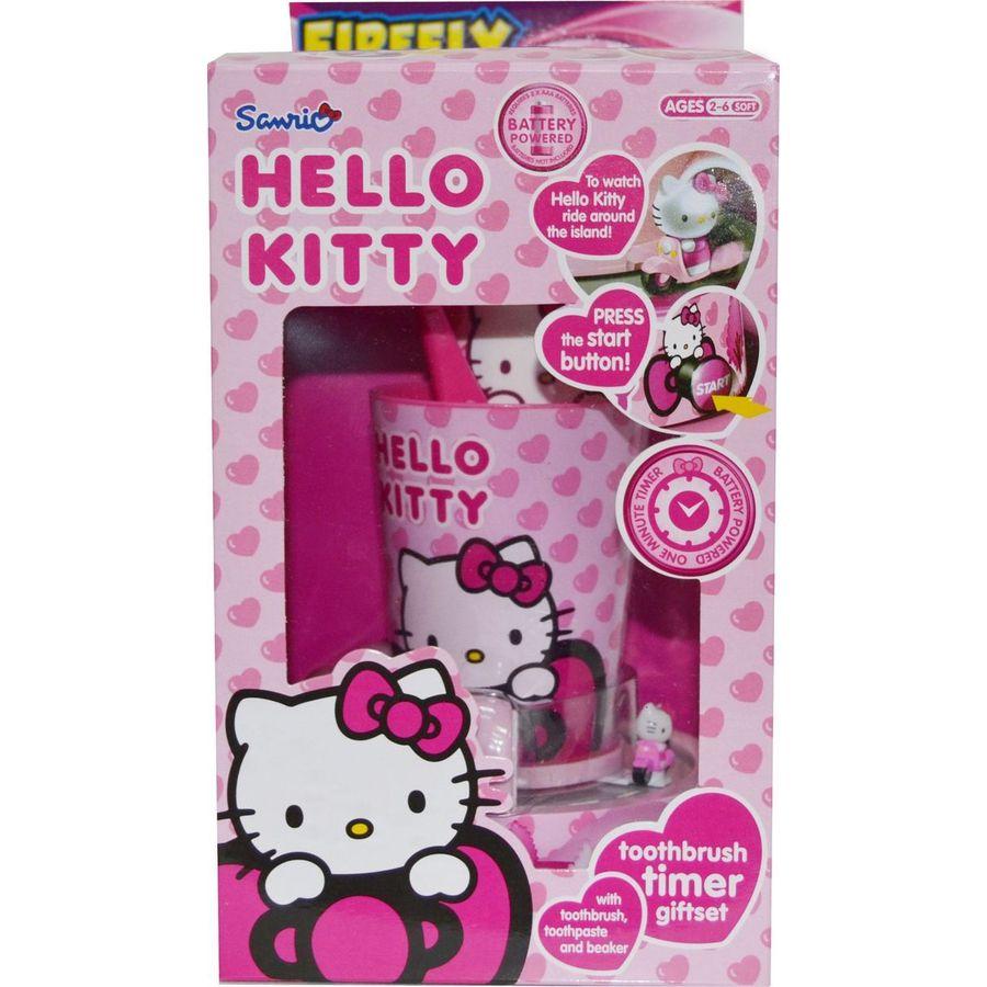 Hello Kitty Timer Gift Set Набор детский: подставка-таймер с игрушкой,стакан,щетка,паста 2-6 лет 75мл