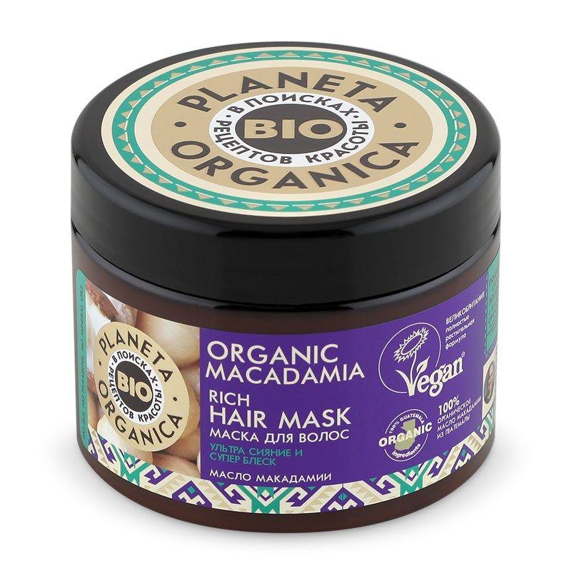 Купить Планета органика Organic Macadamia маска для волос густая 300 мл, Planeta Organica