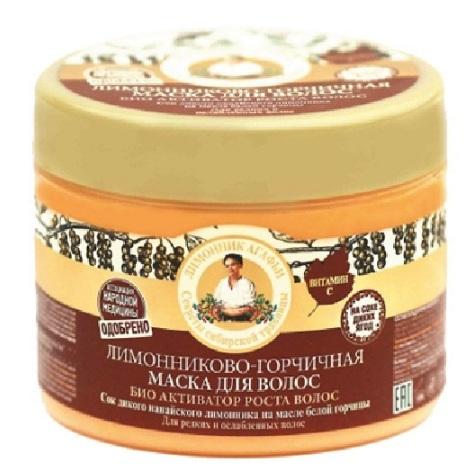 Купить Рецепты Бабушки Агафьи Маска для волос био-активатор роста лимонниково-горчичная 300мл, Рецепты бабушки Агафьи