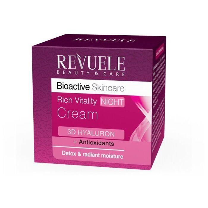 Купить Revuele Bioactive skincare 3D Hyaluron+Antioxidants Крем для лица ночной глубоко восстанавливающий 50мл