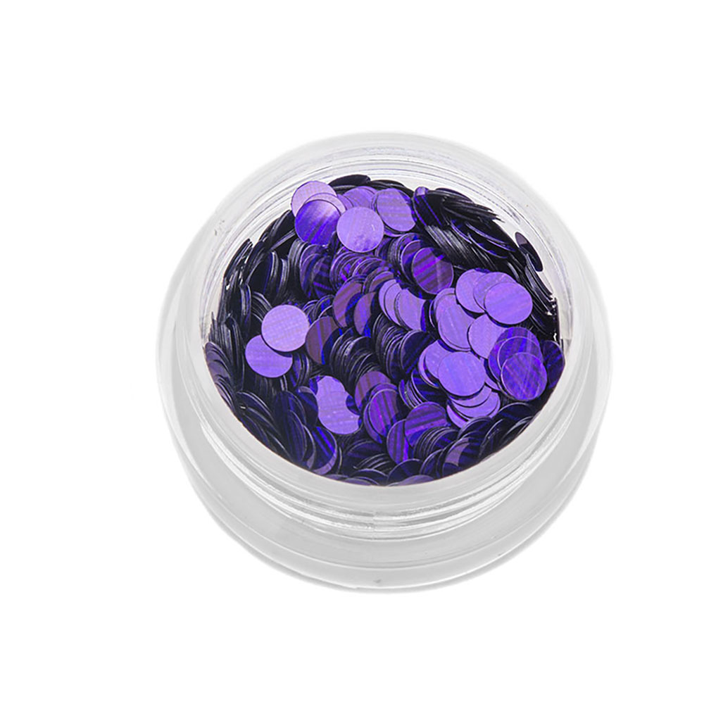Tnl пайетки для ногтей кошачий глаз - фиолетовые №3