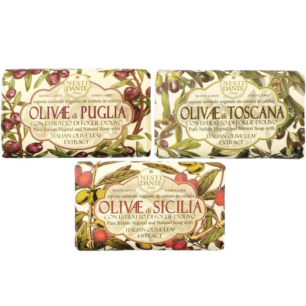 Нести Данте мыло набор Olivae: Сицилийская олива+Олива из Апулии+Тосканская олива 150г N3