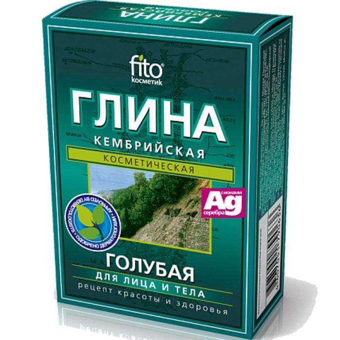 Фитокосметик Глина сухая Кембрийская голубая 100г