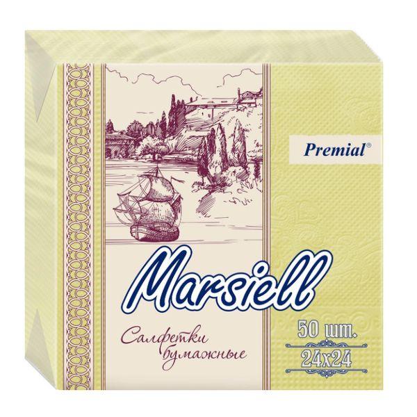 Купить Premial Marsiell Салфетки декоративные двухслойные пастельных тонов 50 шт
