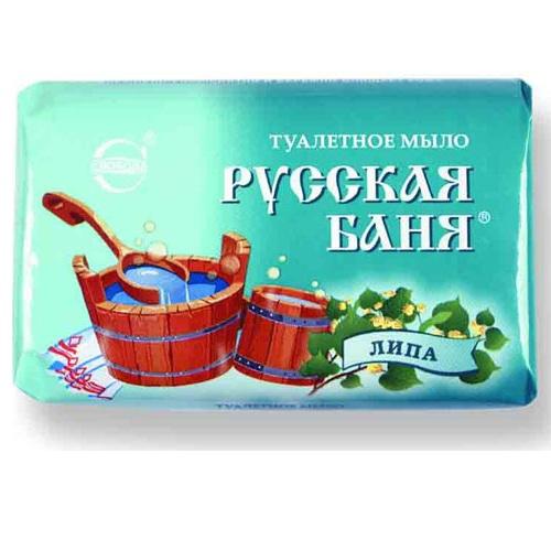 Купить Мыло РУССКАЯ БАНЯ липа 100г Свобода