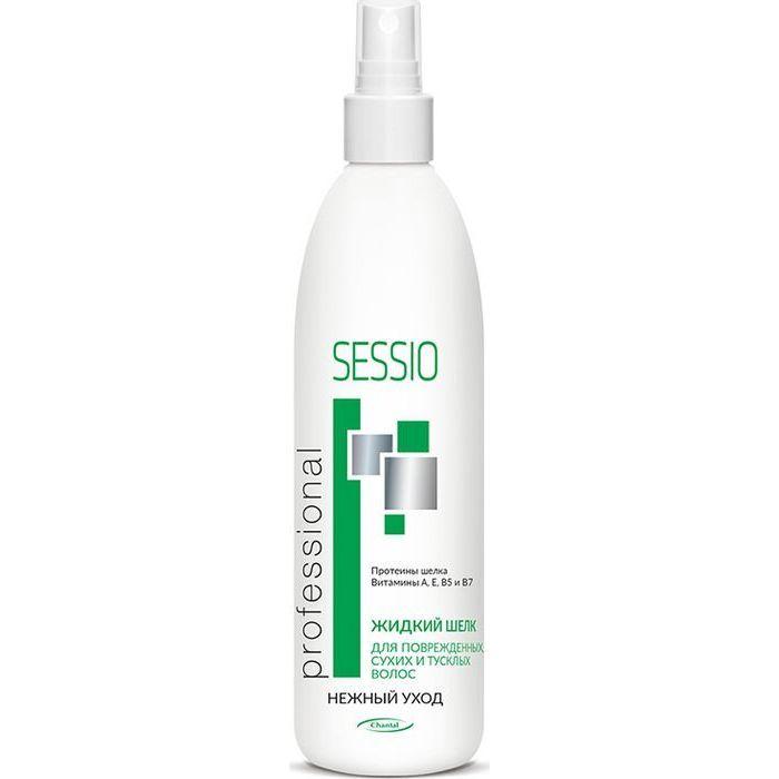 Купить Sessio Спрей Жидкий шелк для поврежденных, сухих и тусклых волос 200г