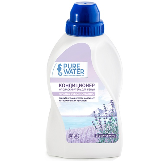 Pure Water Кондиционер-ополаскиватель для белья Французская лаванда 480 мл.