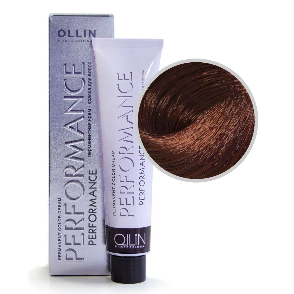 Ollin Performance 6/6 темно-русый красный Перманентная крем-краска для волос 60мл фото