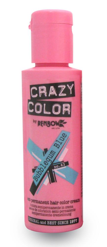 Crazy color краска для волос bubblegum blue /