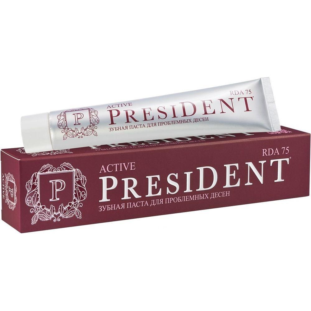 Купить President Active зубная паста 75мл