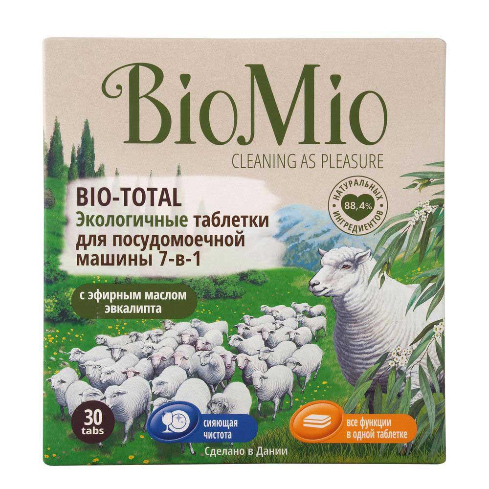 Biomio bio-total таблетки для посудомоечной машины с эфирным