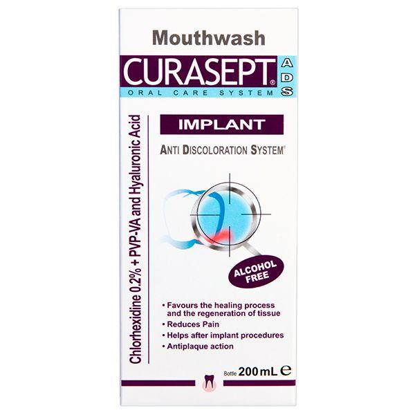 Curasept ADS Implant ополаскиватель для имплантов хлоргексидин диглюконат 0,20% 200мл