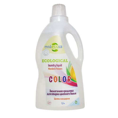 Купить Molecola экологичный гель для стирки цветного и линяющего белья 1500мл
