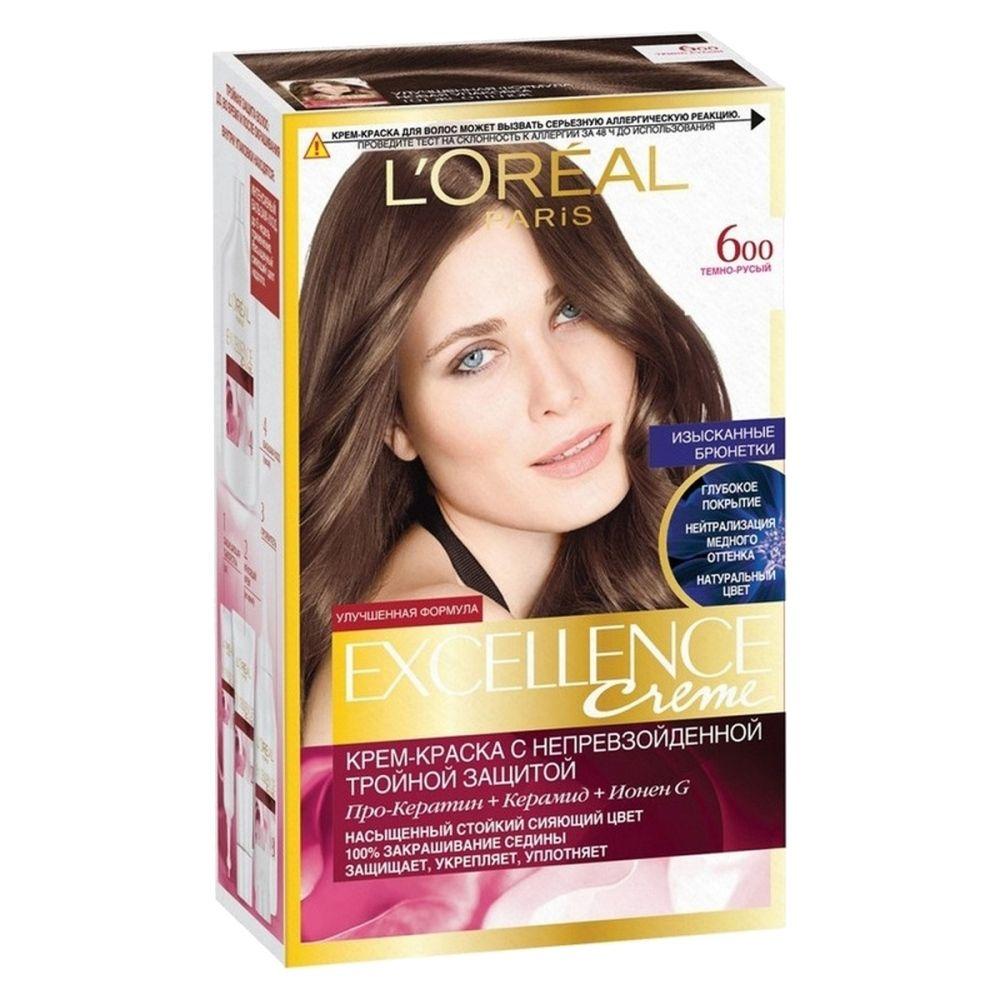 Купить Loreal Paris EXCELLENCE Краска для волос тон 600 Темно-русый