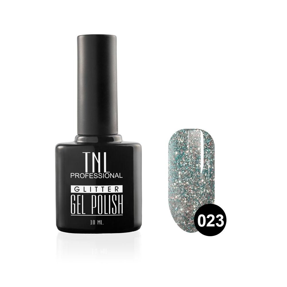 Tnl гель-лак glitter №23 - васильковый 10 мл