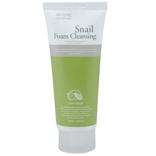 Купить 3W Clinic Пенка для умывания Муцин улитки Snail Foam Cleansing 100мл