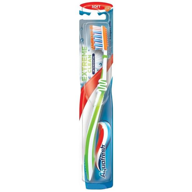 Аквафреш Зубная щетка ToothTongue Extreme Clean + Interdental