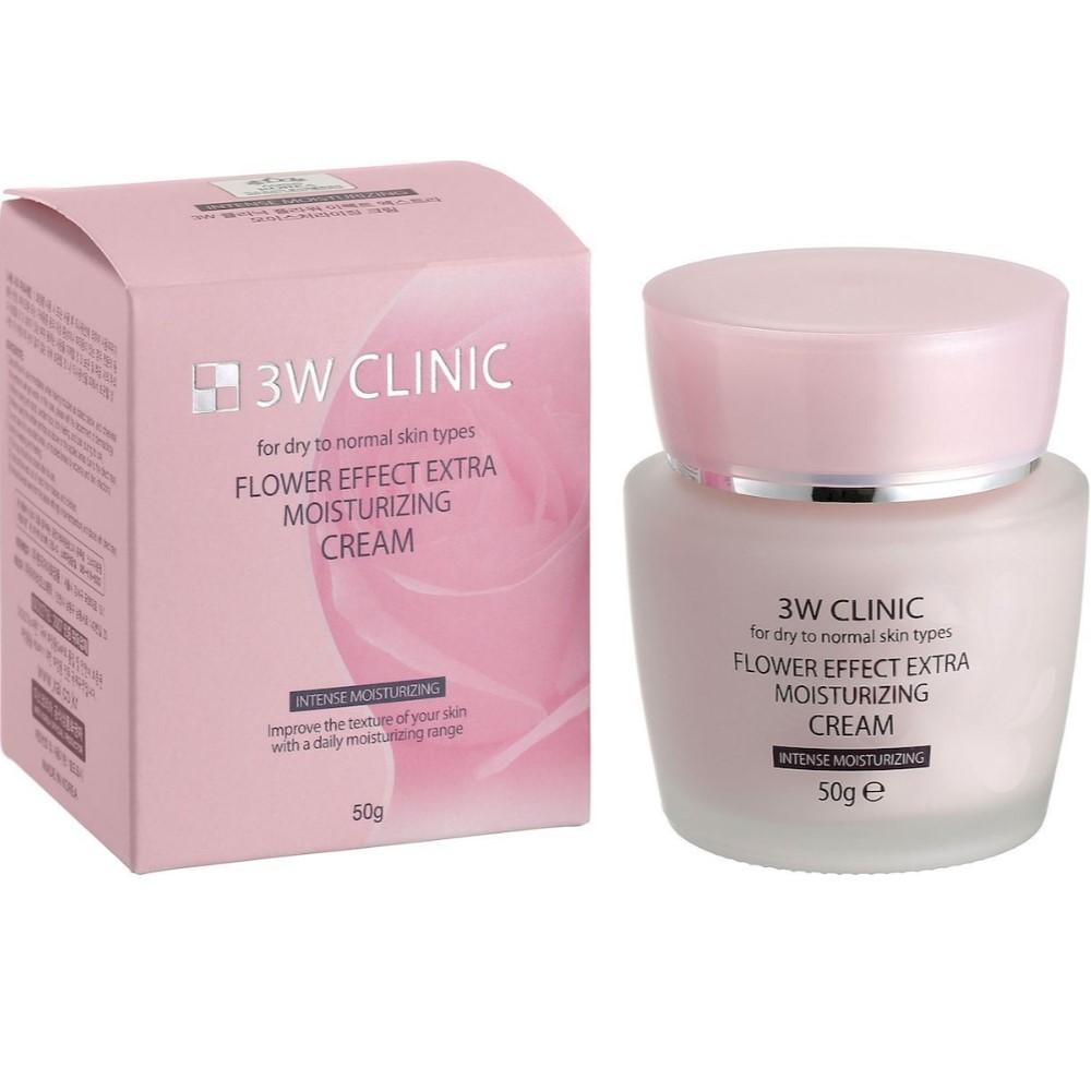 Купить 3W Clinic Увлажнение Крем для лица Flower Effect Extra Moisture Cream 50 г