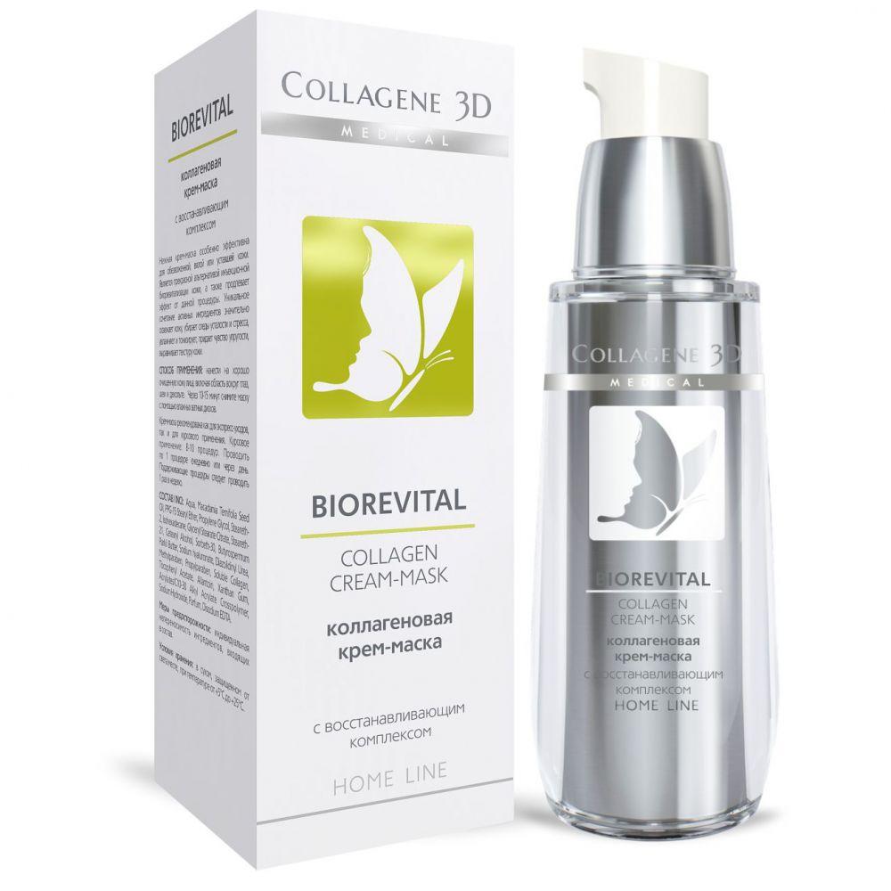 Купить Коллаген 3Д BIOREVITAL Крем-маска для лица 30 мл, Collagene 3D