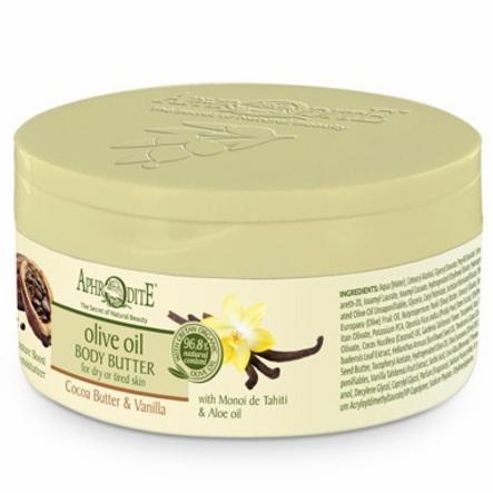 Купить Aphrodite Крем-масло для тела с какао и ванилью 200 мл