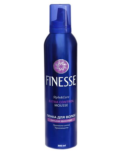 Finesse Пенка для укладки волос суперсильной фиксации 300 мл