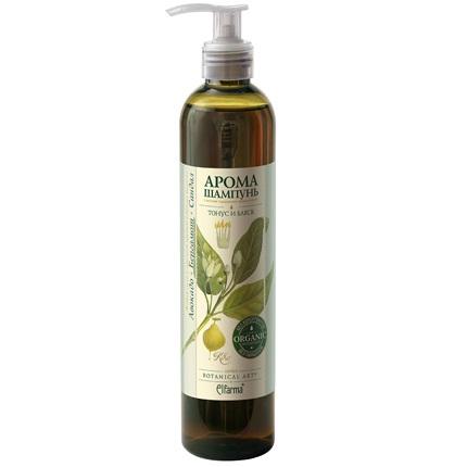 Купить Эльфарма шампунь тонус и блеск для нормальных волос 350мл сандал-бергамот-авокадо, Elfarma