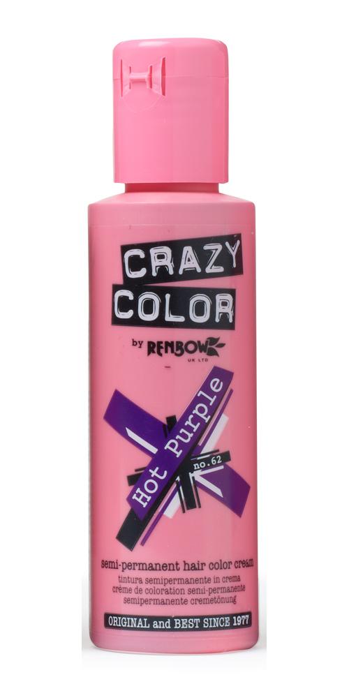Crazy color краска для волос hot purple /