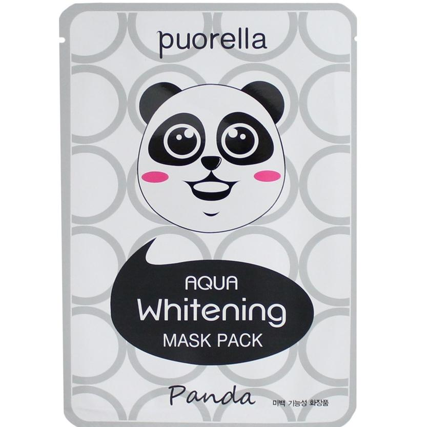 Puorella Aqua Отбеливающая маска для лица Панда 25г