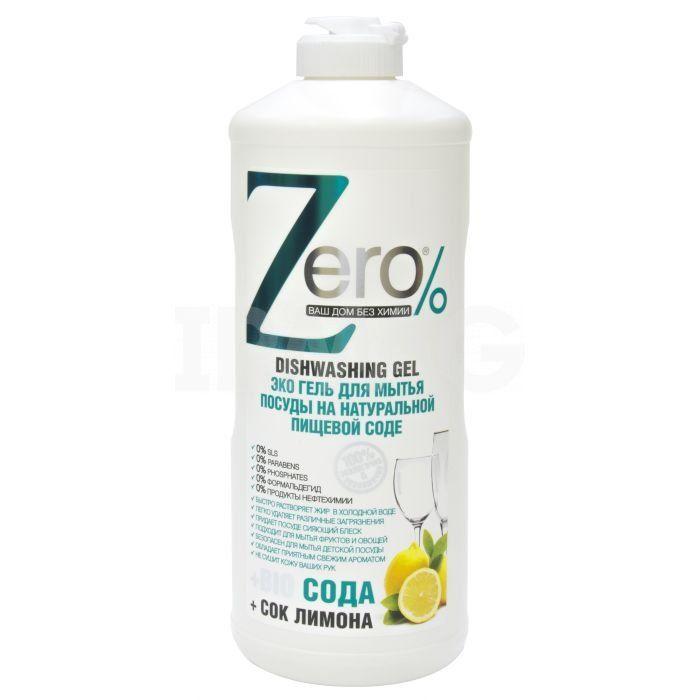 Zero Гель для мытья посуды пищевая сода 500 мл